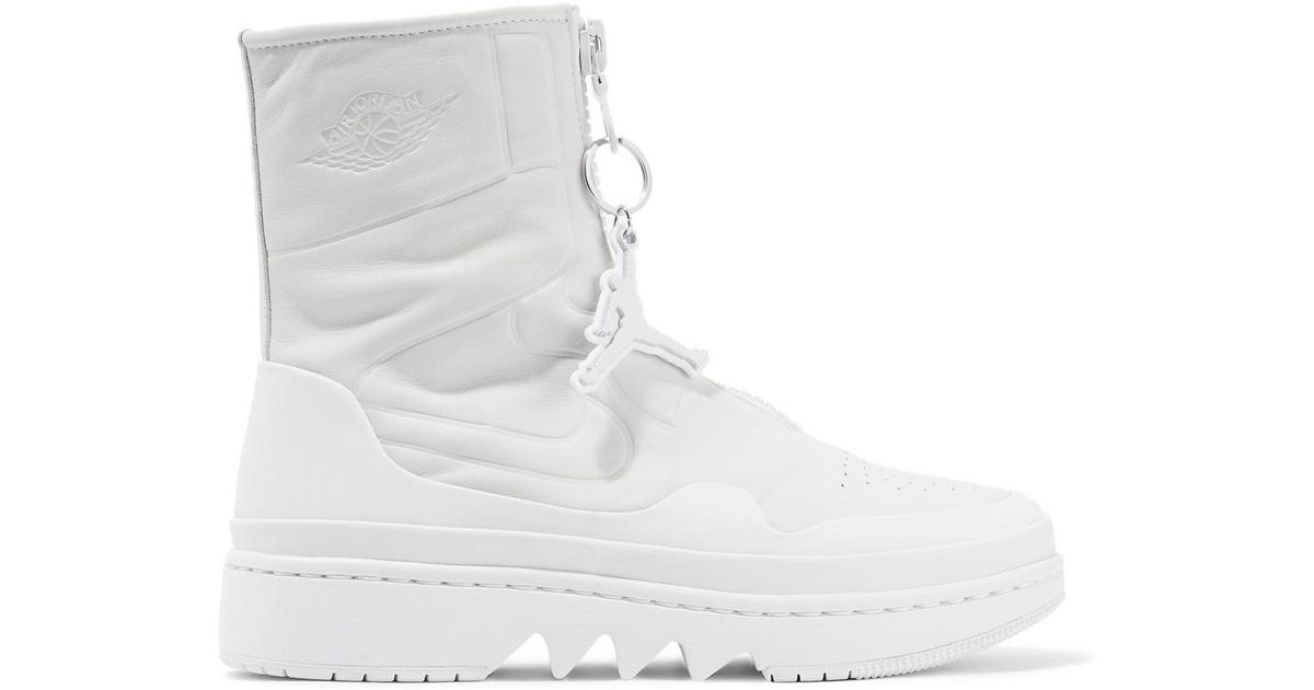 f13d6fcce17480 Nike The 1 s Reimagined Air Jordan 1 Jester Leather High-top Sneakers in  White - Lyst