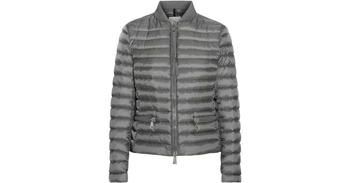 Lyst - Moncler Blen Quilted Shell Down Jacket in Gray
