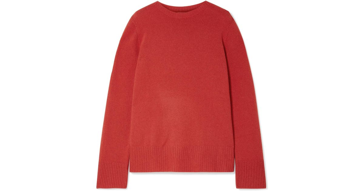 600c4b532d Lyst - The Row Sibel Oversized Wool And Cashmere-blend Sweater in Red
