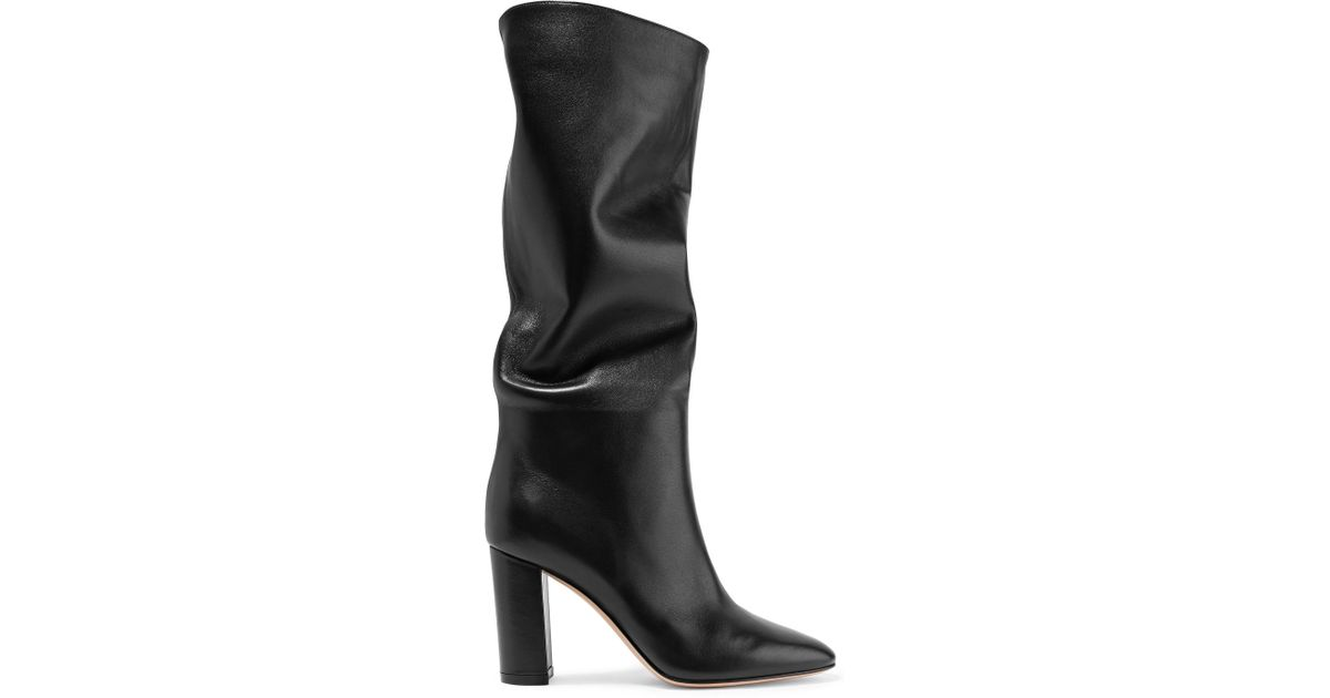 Laura 85 Leather Knee Boots - Black Gianvito Rossi Buy Cheap Original Cheap Excellent Authentic For Sale zlD0zo