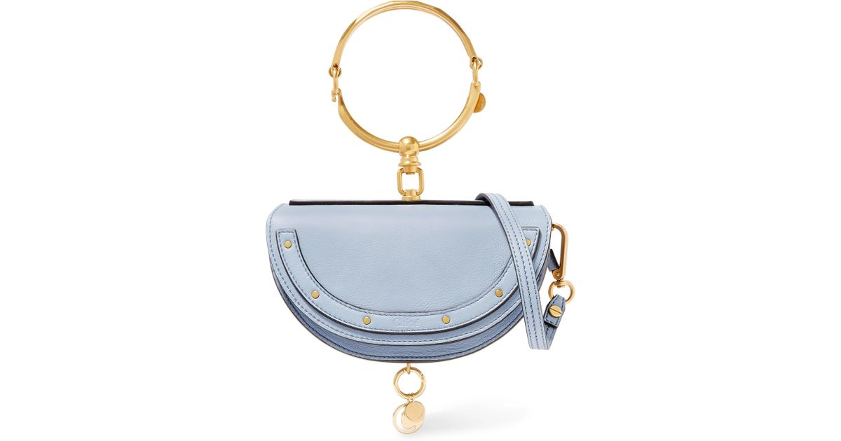 3d26f90587 Lyst - Chloé Nile Bracelet Mini Textured-leather Shoulder Bag in Blue