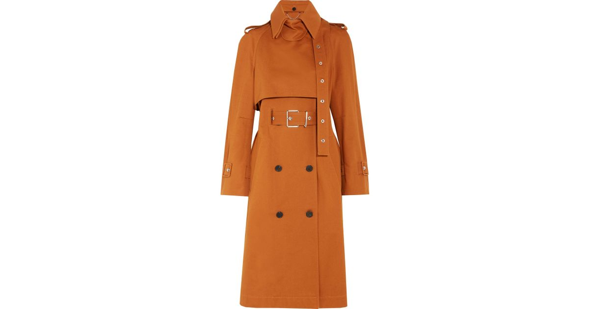 9e804808d7de Lyst - Proenza Schouler Double-breasted Cotton-twill Trench Coat in Brown
