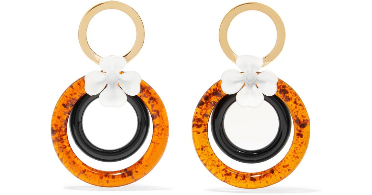 black lyst jewelry earrings round normal in marni product shaped
