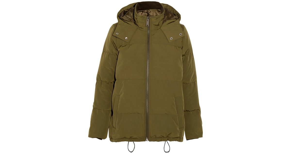 ea5edc07ae8fd Lyst - Madewell Hooded Quilted Shell Down Jacket in Green