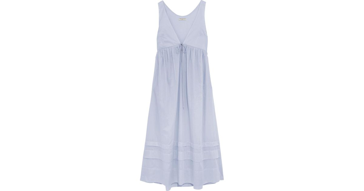 Linton Pleated Cotton-voile Dress - Light blue Three Graces London Sale Cheap Price 2018 Newest For Sale Free Shipping Fake Latest Cheap Price Outlet New Arrival Yiw7Ju9V3n