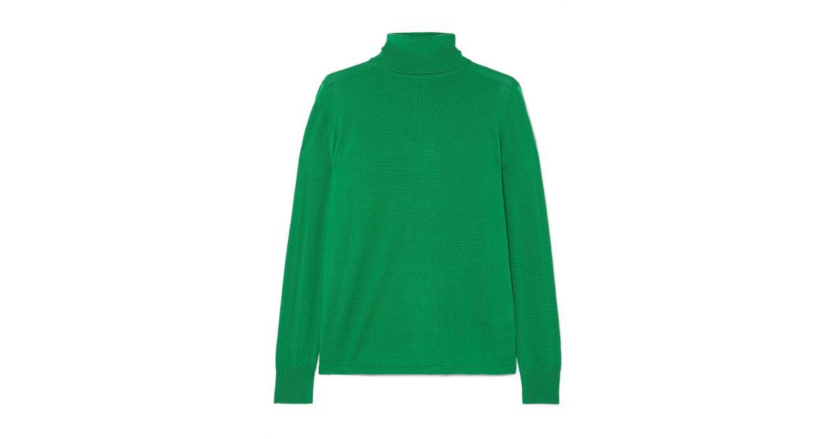 L.F.Markey Joshua Wool Turtleneck Sweater in Green - Lyst ea5ba5276
