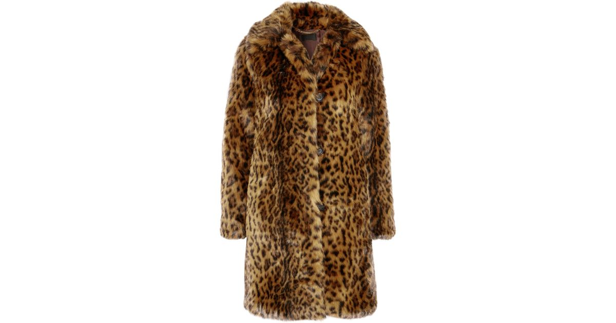 Image result for leopard Print Faux Fur Coat J.CREW