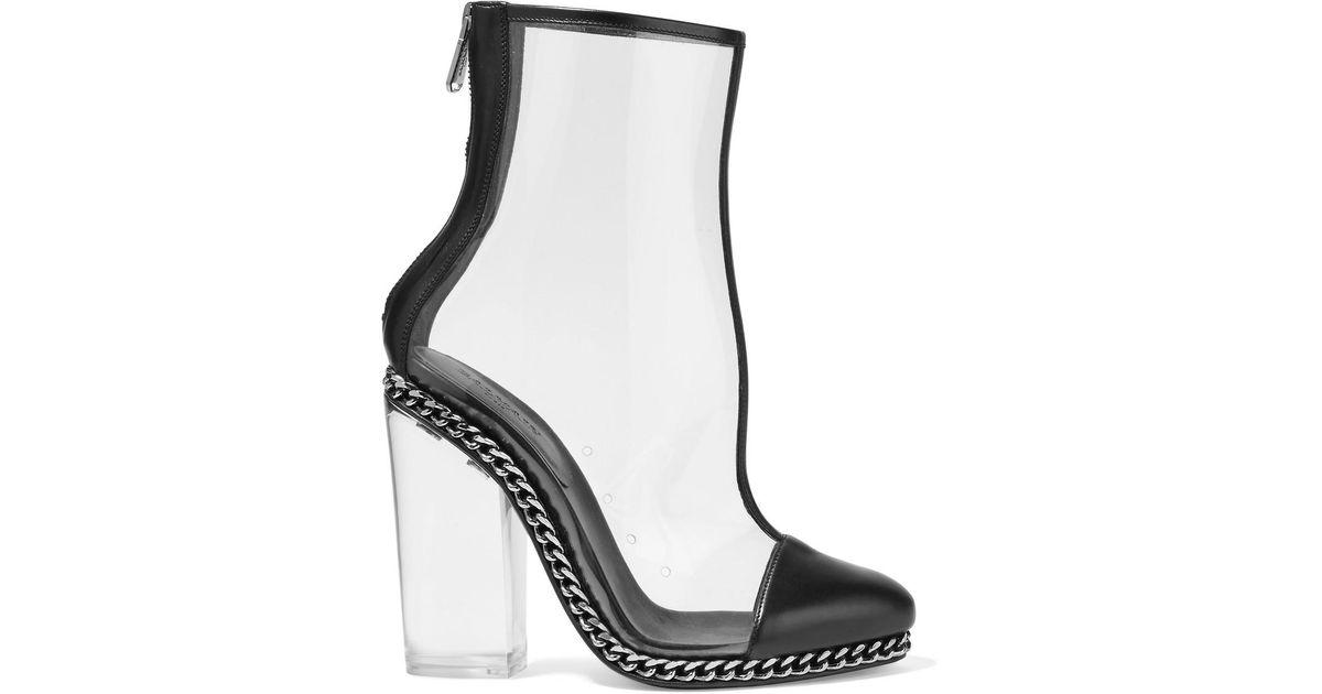 f521ab31f balmain-black-Embellished-Leather-trimmed-Pvc-Ankle-Boots.jpeg
