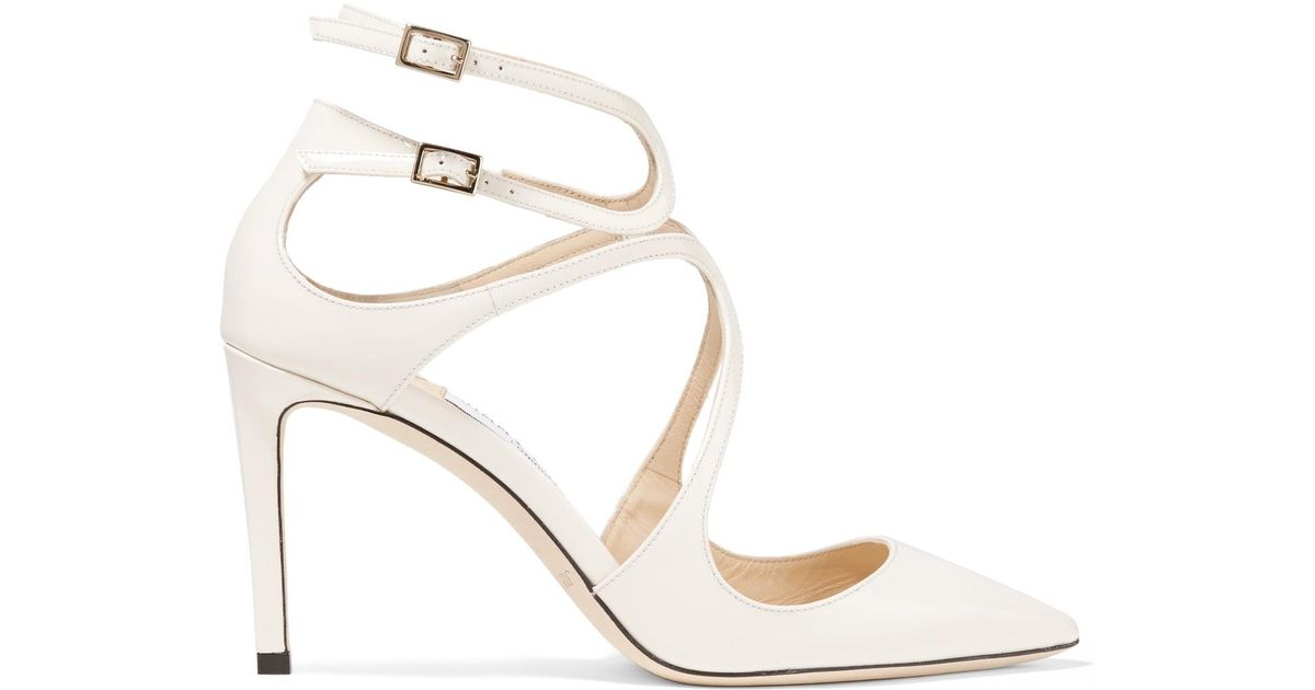 Lancer 85 Patent-leather Pumps - White Jimmy Choo London O05Mj