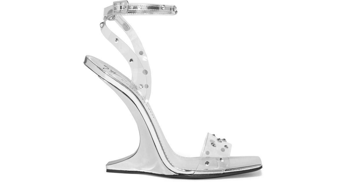 cd30e740071 Lyst - Giuseppe Zanotti Garconne Crystal-embellished Pvc Sandals in Metallic  - Save 58%
