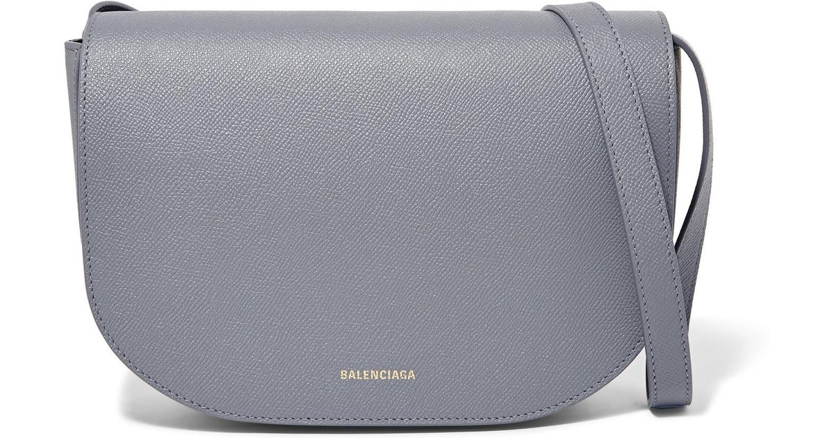c75e70455f Balenciaga Ville S Aj Printed Textured-leather Shoulder Bag in Gray - Lyst