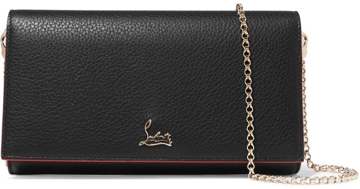 ad61d2ba7c8 Christian Louboutin Boudoir Textured-leather Shoulder Bag in Black - Lyst