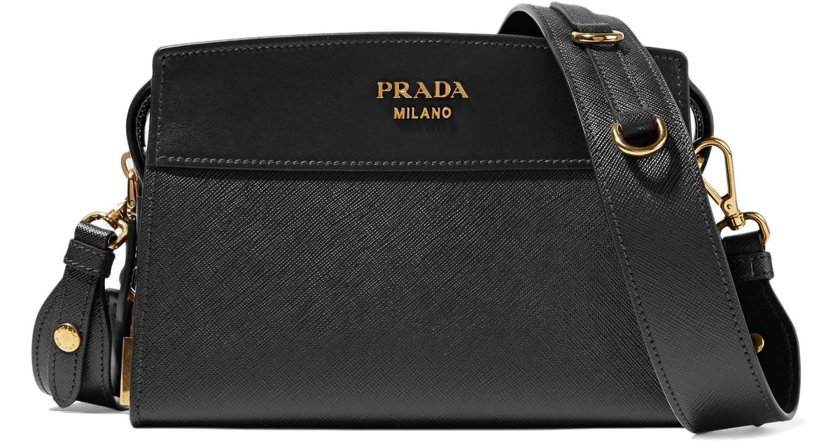 976d240363d6 Lyst - Prada Esplanade Small Textured-Leather Shoulder Bag in Black