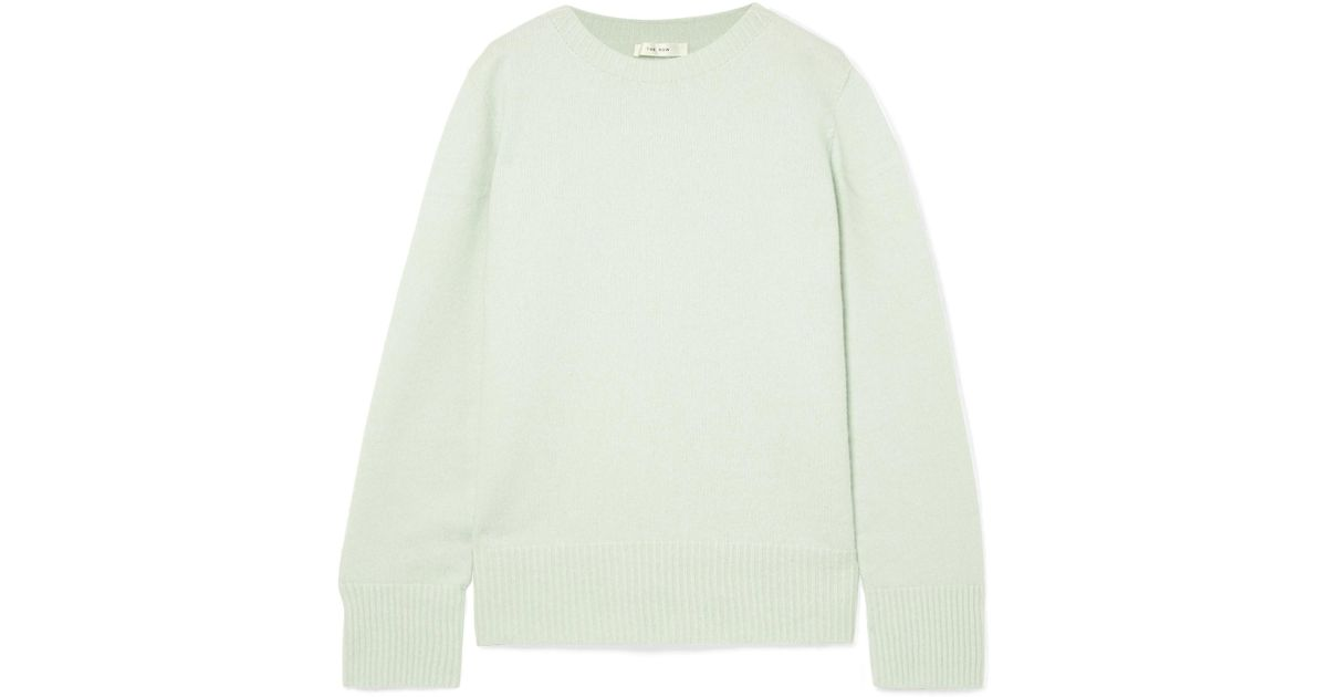 774b394838 Lyst - The Row Sibel Oversized Wool And Cashmere-blend Sweater in Green