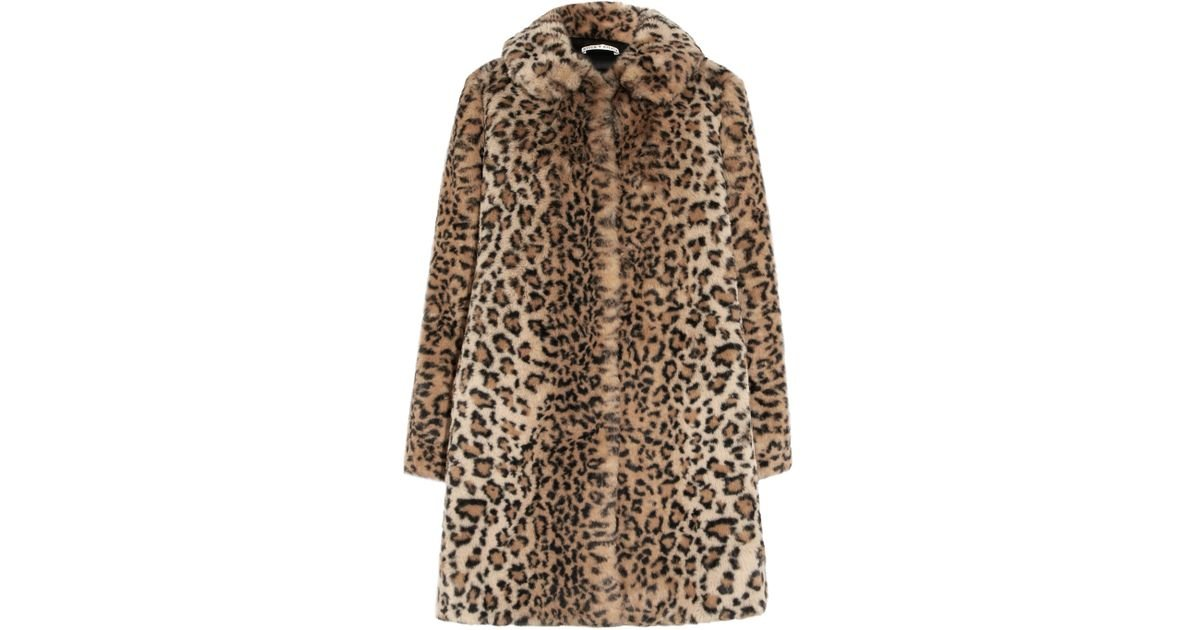 24bdf7ca3022 Alice + Olivia Kinsley Oversized Leopard-print Faux Fur Coat in Brown - Lyst