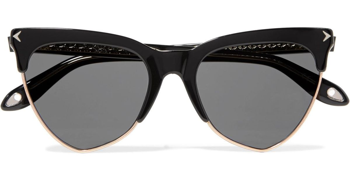 c476d5b92dfa1 Givenchy tone Black Cat eye Gold Sunglasses Acetate Rose And f8P4f