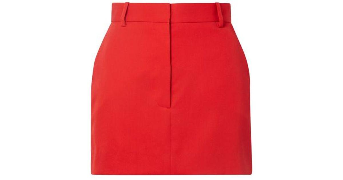 2f4e7de11b CALVIN KLEIN 205W39NYC Striped Wool-twill Mini Skirt in Red - Lyst