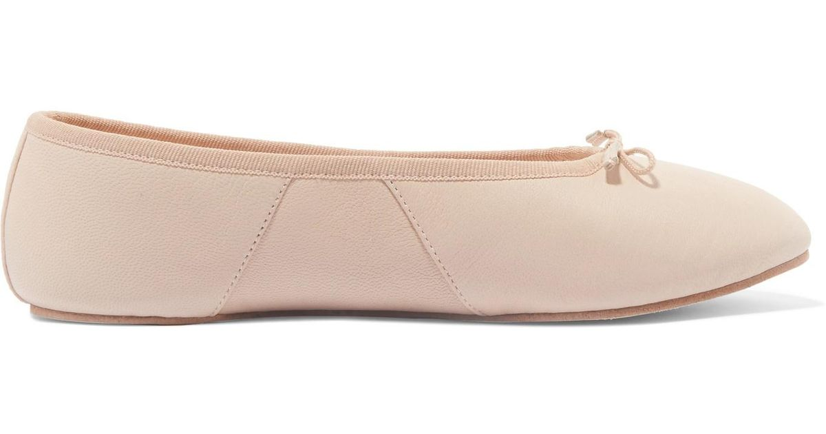 Bianca Leather Ballet Slippers - Cream Eres swDaBgmJ