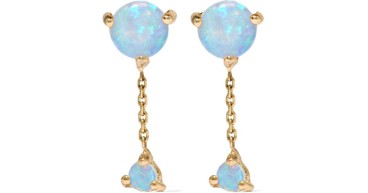 Wwake Two Step 14-karat Gold Opal Earrings - Blue JRVlQ