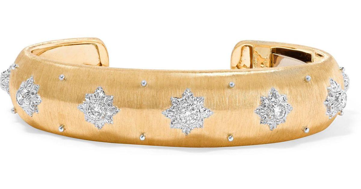 Buccellati Macri 18-karat Yellow And White Gold Diamond Bracelet WRyCAwZ