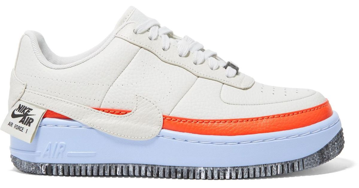 Nike White Air Force 1 Jester Xx Textured leather Sneakers