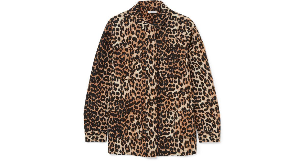 ganni leopard jakke