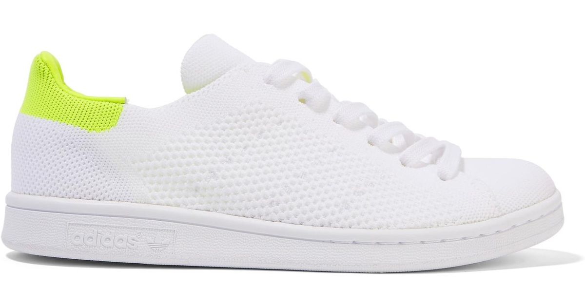 03d917bca9a004 Lyst - adidas Originals Stan Smith Boost Primeknit Sneakers in White