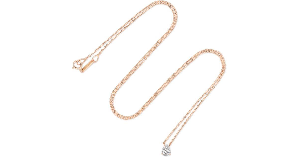 Anita Ko Heart 18-karat Rose Gold Ruby Necklace 9kEAoHazU