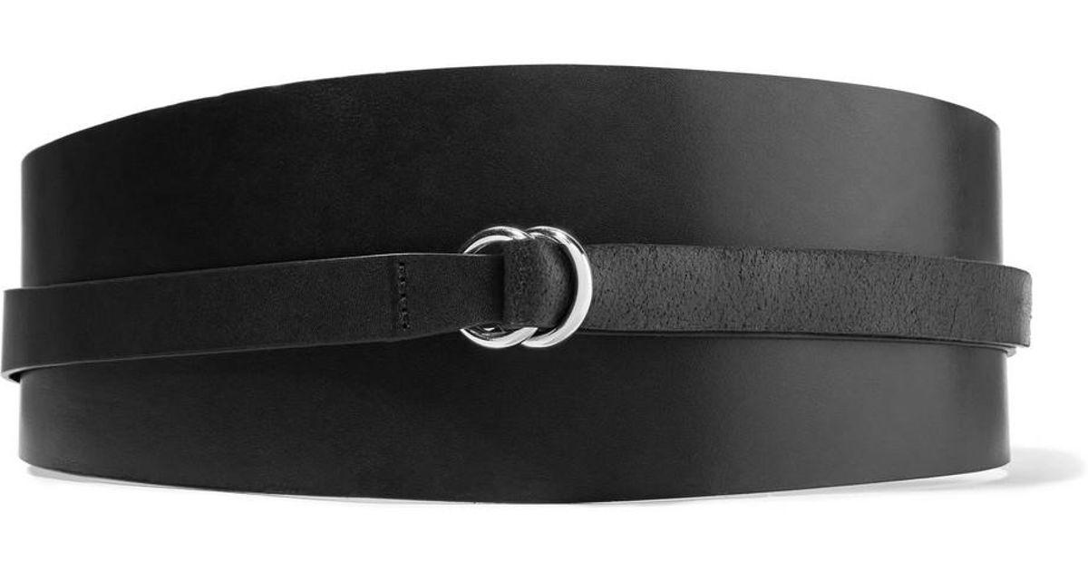 84a26b57e48a Lyst - Isabel Marant Woman Cajou Leather Waist Belt Black in Black