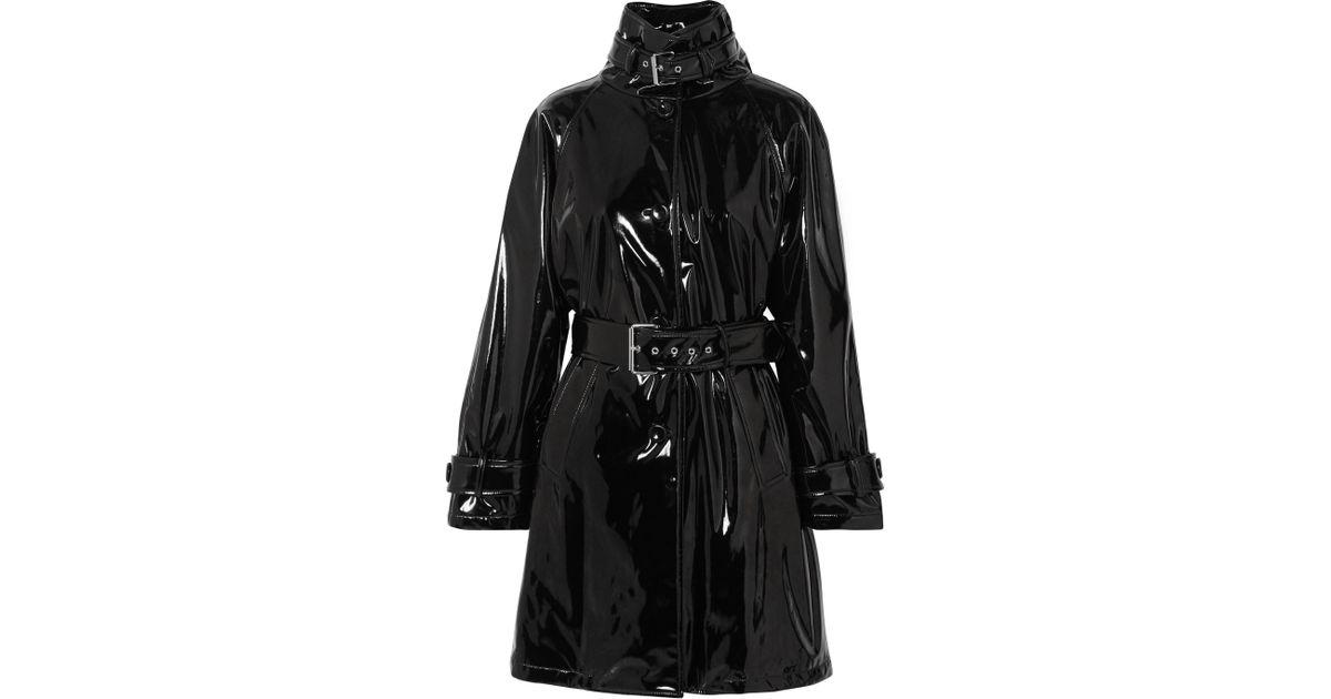 Noir À En Ceinture Vinyle Moschino Trench Lyst Coat Coloris 87PCCx 1450e3e9801
