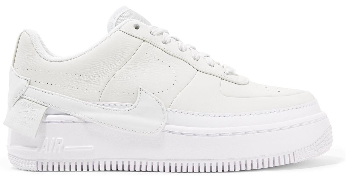 newest 01f2c 5c5a6 Nike The 1 s Reimagined Air Force 1 Jester Xx Textured-leather Platform  Sneakers in White - Lyst