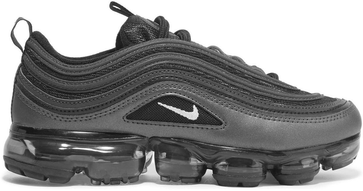 nike air vapormax 97 finto cuoio e delle scarpe nere lyst
