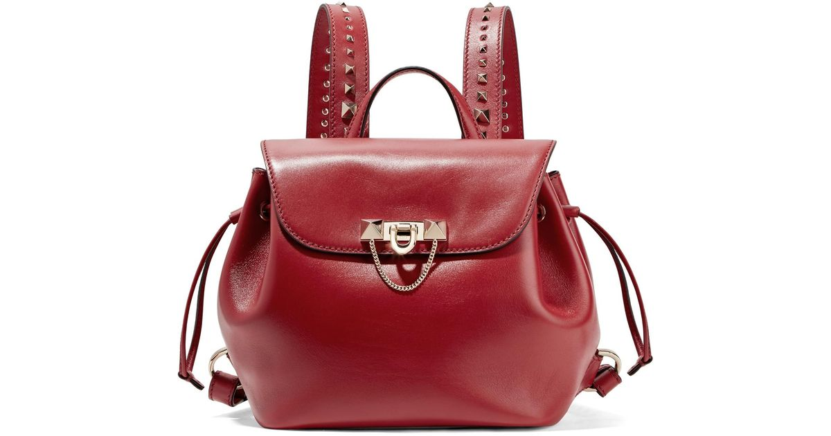 Garavani Demilune Medium leather backpack Valentino GxOWCrq