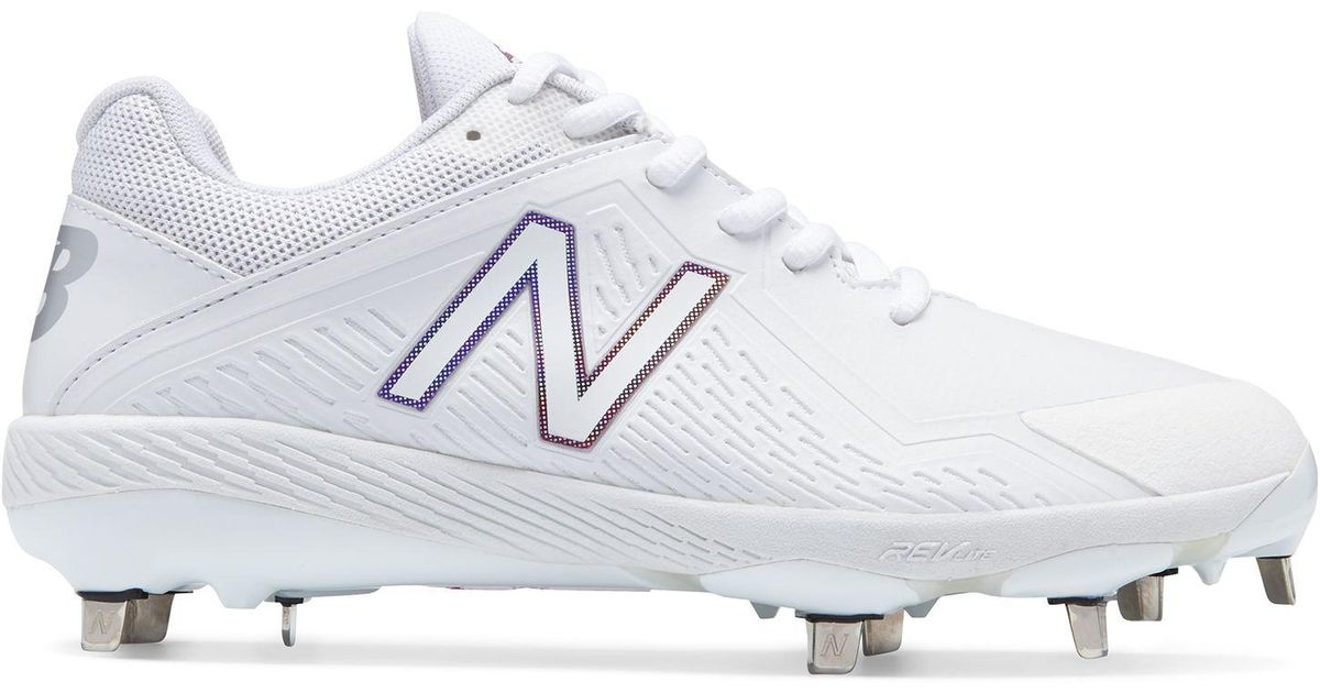 14f593d7b394 New Balance Low-cut Fuse Metal Cleat in White - Lyst