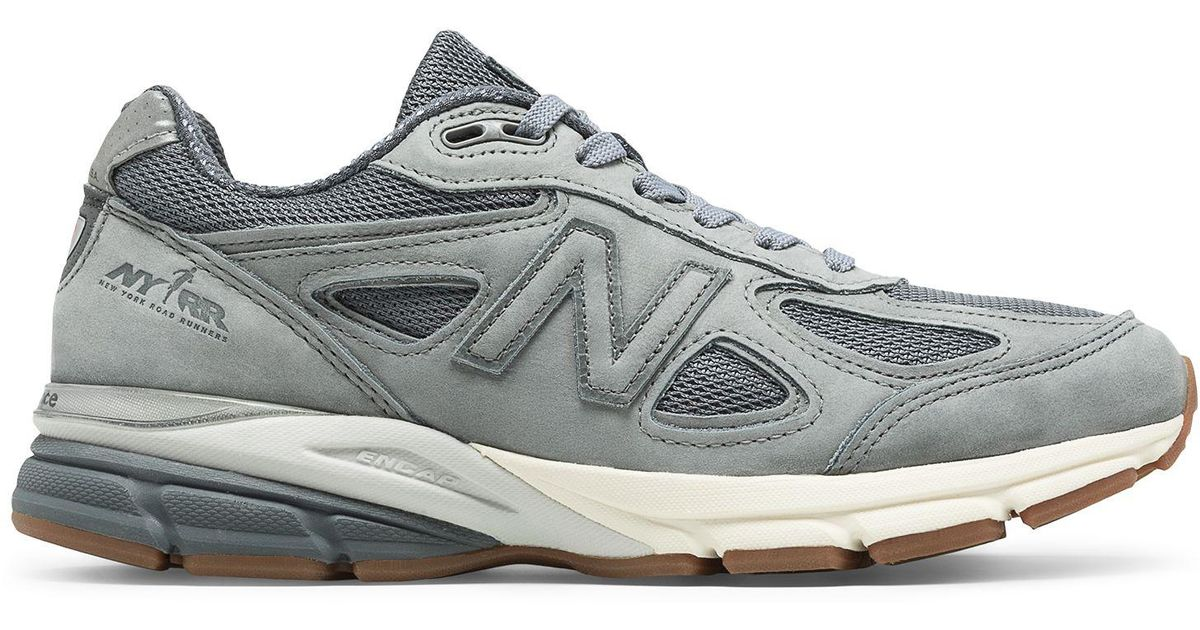 New Balance Mens 990v4 NYRR Grey/Gunmetal