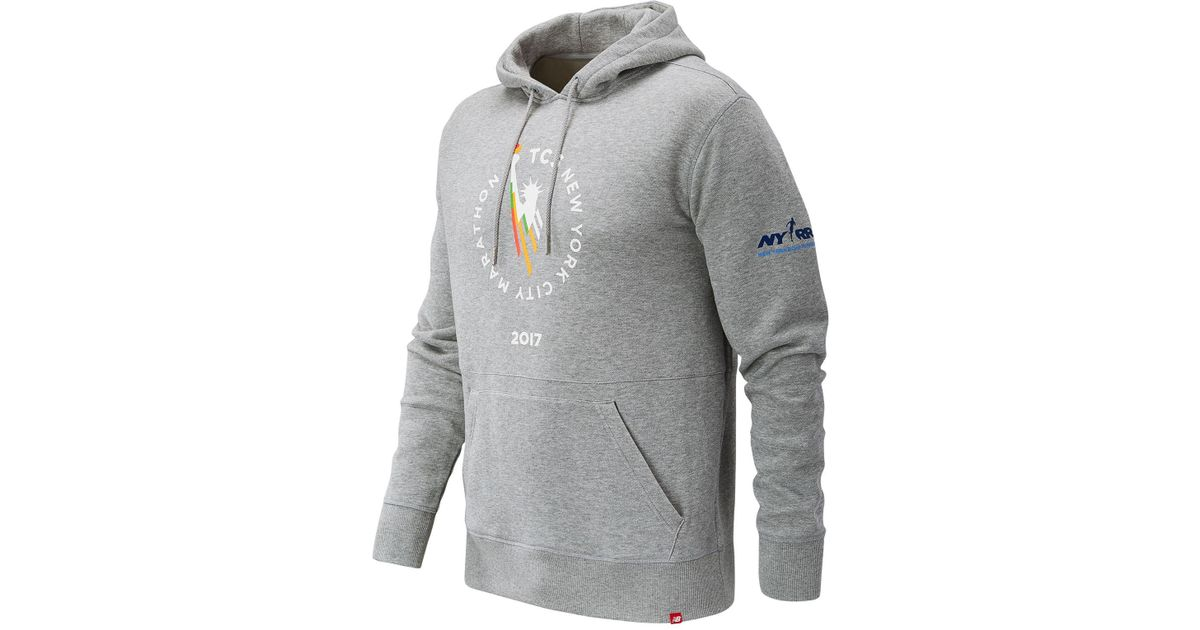 c6bbc4b84b7c9 New Balance Nyc Marathon Essentials Pullover Hoodie in Gray for Men - Lyst