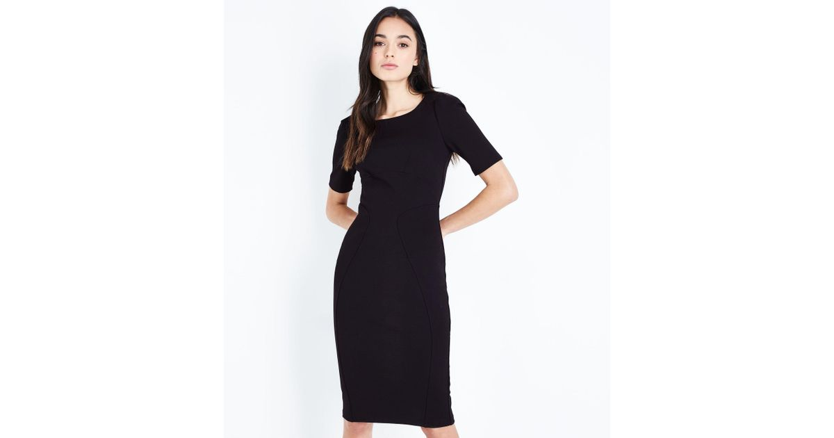 Apricot Black Bodycon Midi Dress In Black Lyst