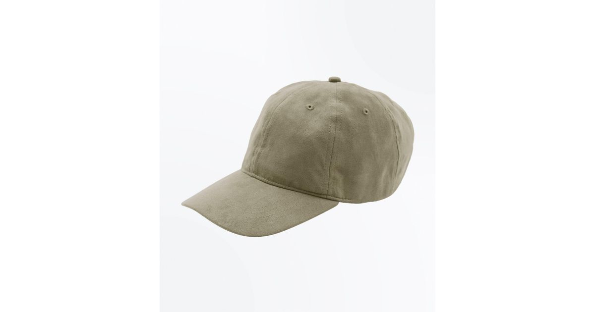 9e43cf2d55095e New Look Olive Faux Suede Cap in Green for Men - Lyst