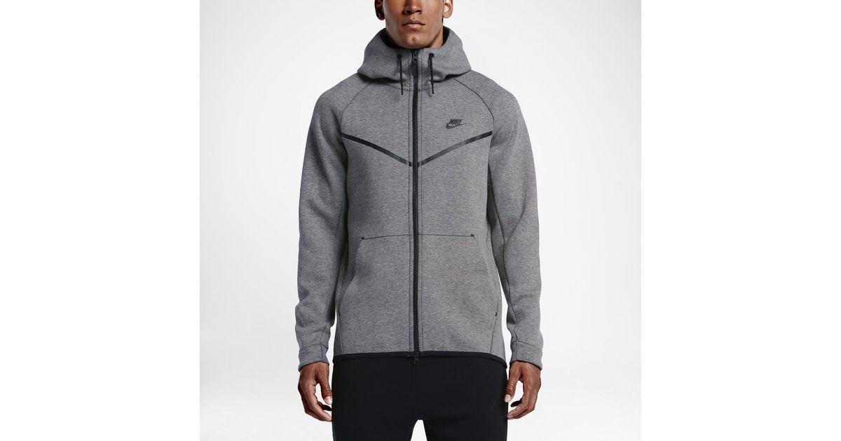 ea94f67eb3 Lyst - Nike Sportswear Tech Fleece Windrunner Men s Hoodie in Black for Men
