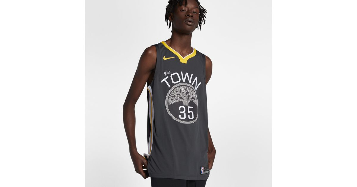 e4e7f99a413 Nike Kevin Durant Statement Edition Authentic (golden State Warriors) Nba  Connected Jersey in Black for Men - Lyst