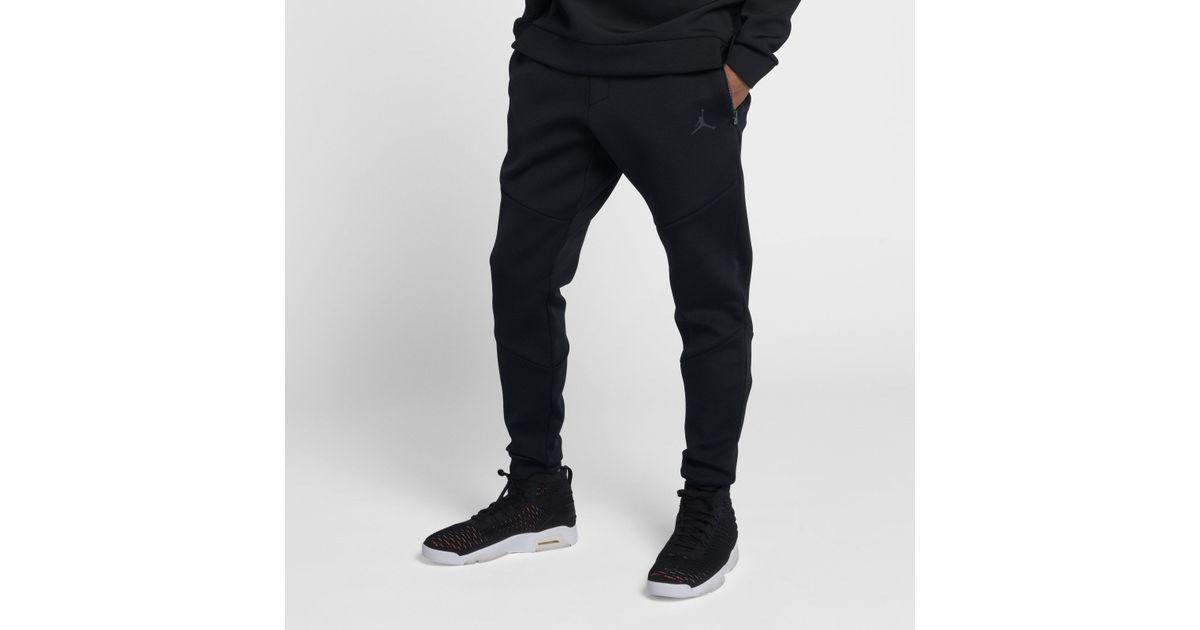 87dc45142c40 Nike Jordan Sportswear Flight Tech Diamond Trousers in Black for Men - Lyst