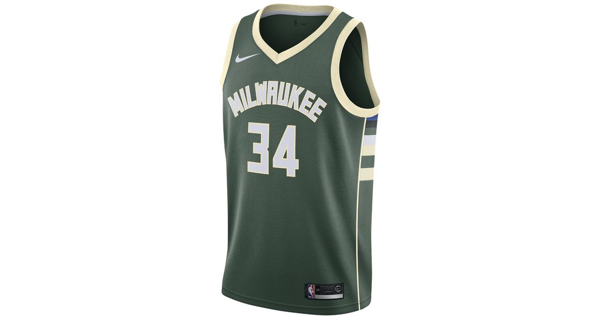 277a1e08770 ... promo code lyst nike giannis antetokounmpo icon edition swingman jersey  milwaukee bucks mens nba connected jersey
