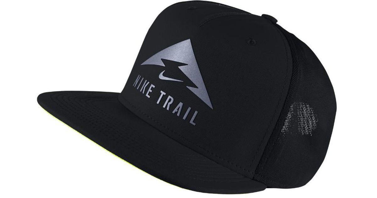Lyst - Nike Trail Aerobill Trucker Hat (black) in Black for Men 6a3194c4e07