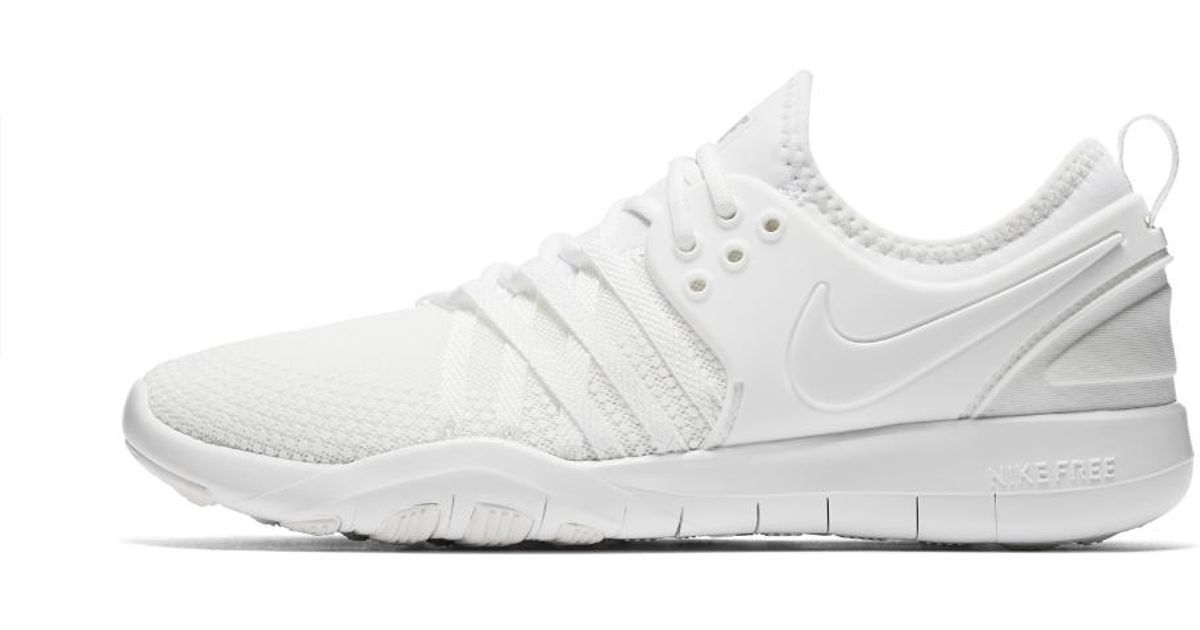 0800dc415 ... sale lyst nike free tr7 womens training shoe in white ffcdc 4f4c9