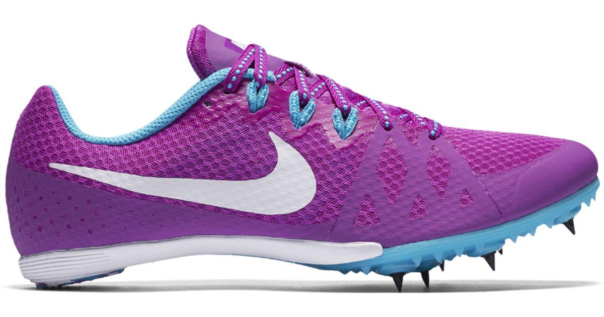 83ba0acf89a93 Lyst - Nike Zoom Rival M 8 Women s Track Spike in Purple