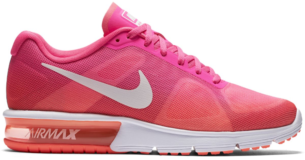 61f4ef68d4 Lyst - Nike Air Max Sequent Women's Running Shoe in Pink