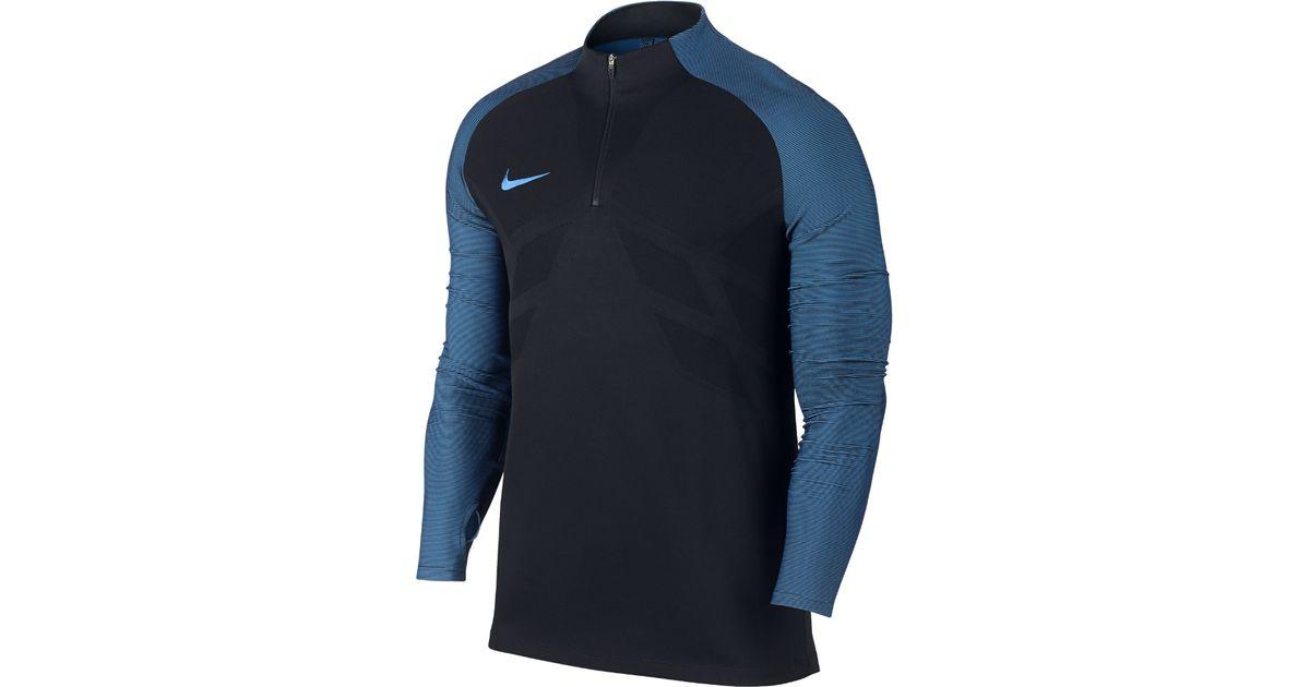 ebe1e390 Nike Strike Aeroswift Men's 1/4 Zip Soccer Drill Top in Blue for Men - Lyst