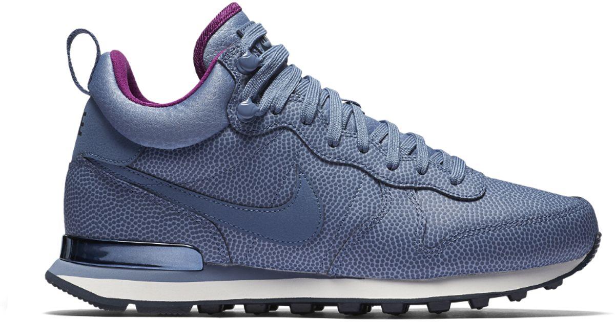 d0828fee7c41 Lyst - Nike Internationalist Mid Leather Women s Shoe in Blue