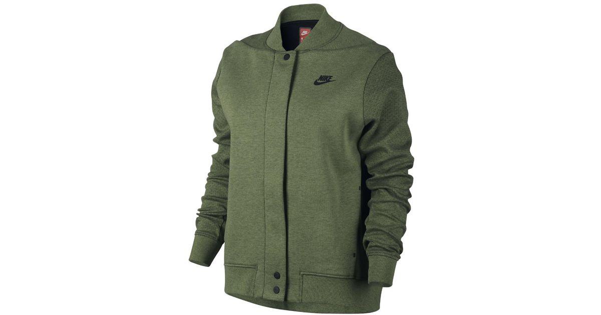 Lyst - Nike Tech Fleece Destroyer Women s Jacket in Green 11db6939df