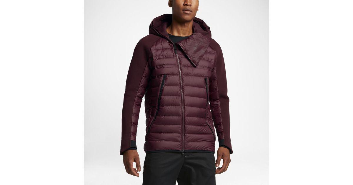 ea58e76d51a1 Nike Sportswear Tech Fleece Aeroloft Men s Down Jacket in Purple for Men -  Lyst